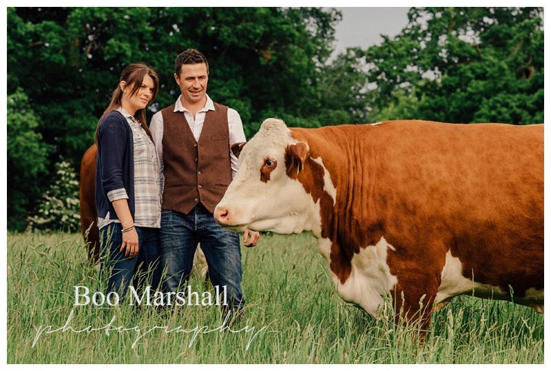 Norfolk farm engagement shoot
