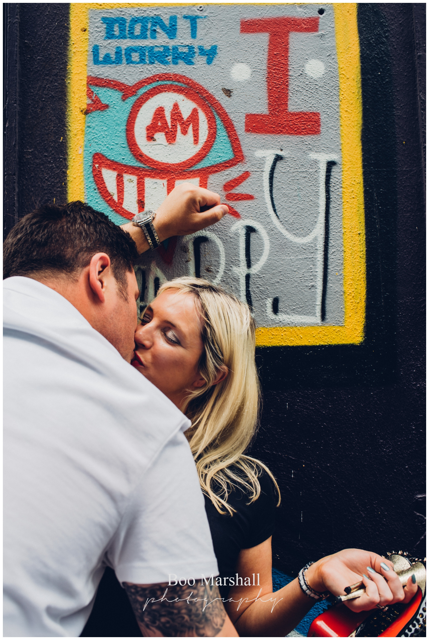 street art pre wedding Rivington Street